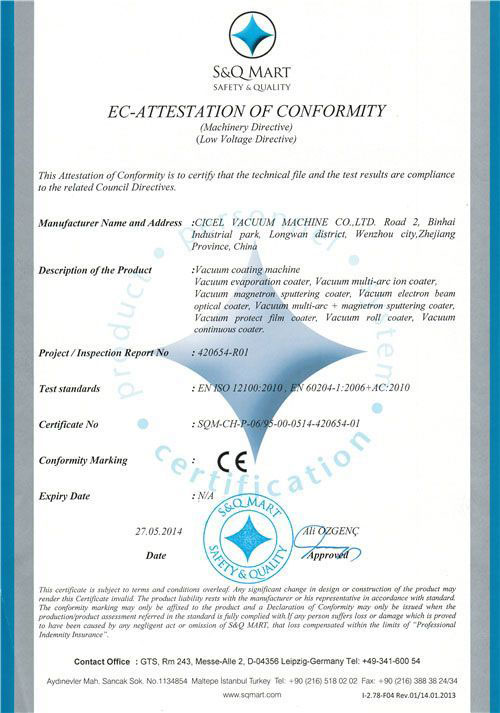 Conformity certification